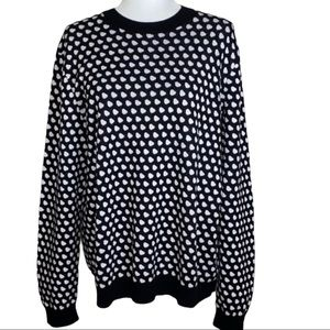 Marc By Marc Jacobs Black and White Sweater Size L